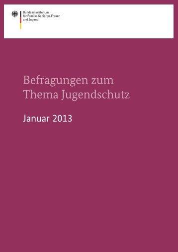 Befragungen zum Thema Jugendschutz - TNS Infratest ...
