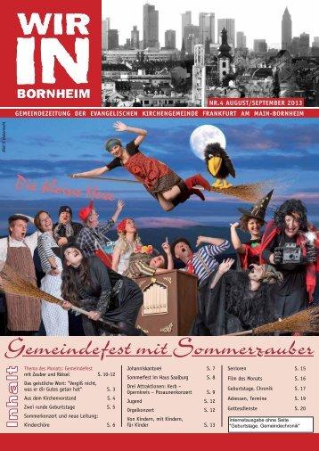 Gemeindefest mit Sommerzauber - Ev. Kirchengemeinde Frankfurt ...