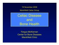 Celiac Disease and Bone Health - Marshfield Celiac Support Group