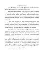 Targi Pracy w Leżajsku - Wojewódzki Urząd Pracy w Rzeszowie