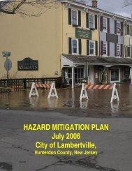 HAZARD MITIGATION PLAN - City of Lambertville