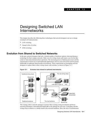 Designing Switched LAN Internetworks