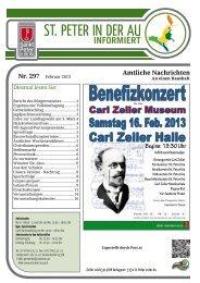 Infoblatt Nr. 297 Februar 2013 - in St. Peter in der Au