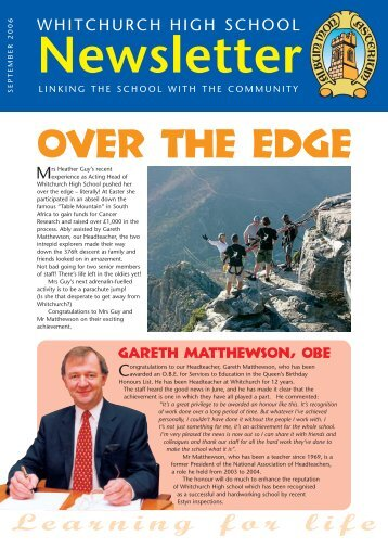 OVER THE EDGE - Whitchurch High School