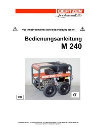 Bedienungsanleitung M 240 - von Oertzen GmbH