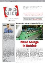 Neue Anlage in Betrieb Neue Anlage in Betrieb - RAG Deutsche ...