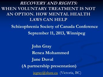 When Voluntary Treatment is not an Option How Mental Health ...