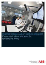 Imperial College carbon capture pilot plant Preparing ... - Charter Tech