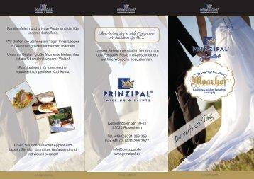 Hochzeit im Moarhof – Ihr perfekter Tag! - PRINZIPAL Catering ...