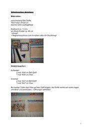 1 Nähmäppchen/ Anleitung Materialien: verschiedene BW-Stoffe ...