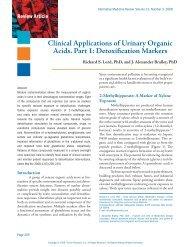 Clinical Applications of Urinary Organic Acids. Part 1 - Alternative ...