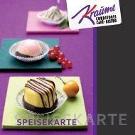 aktuelle Speisekarte für den Sommer 2013 - Cafe Kraume