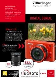 DIGITAL GENIAL Nikon - Foto Hirrlinger GmbH