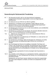Hausordnung des Gymnasiums Freudenberg - Kantonsschule ...