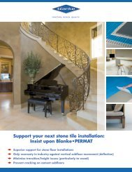 Support your next stone tile installation: Insist upon Blanke•PERMAT