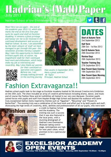 Hadrian News July 2013.pdf - Excelsior Academy