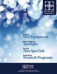 Nov/Dec 2013 Newsletter - Wheaton Sport Center
