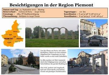 Besichtigungen in der Region Piemont - womoreisen.info