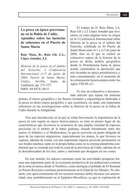 La pesca en época prerroma - Revista de Historia de El Puerto