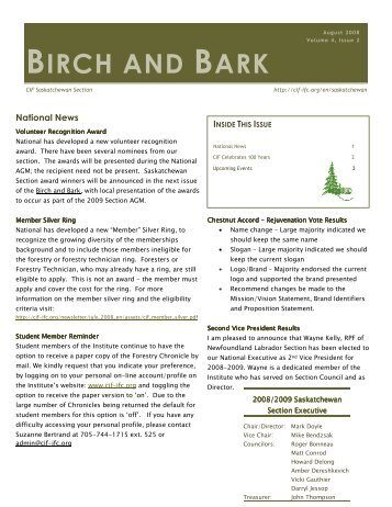 BIRCH AND BARK - Canadian Institute of Forestry
