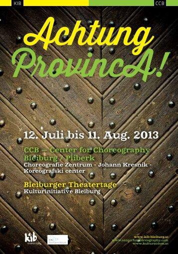 Folder Theatertage zum Download - KIB Bleiburg