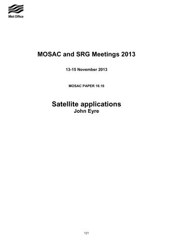 Satellite Applications (PDF, 154 kB) - Met Office