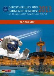 Programm - Deutscher Luft- und Raumfahrtkongress 2013