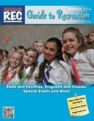 Guide to Recreation Winter 2014 - City of El Cajon