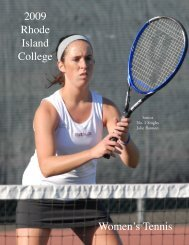 W.Tennis - Rhode Island College Athletics