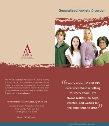 Generalized Anxiety Disorder - Screening for Mental Health