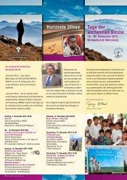 diesem Flyer - Dienst für Mission, Ökumene und Entwicklung (DiMOE)