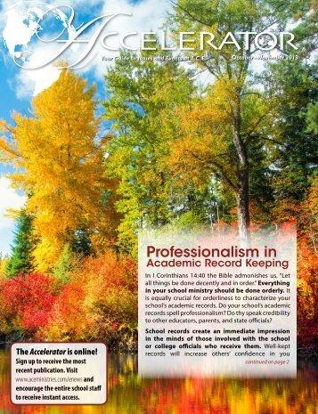 October–November 2013 - Accelerated Christian Education