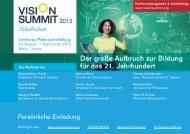 Einladung VISION SUMMIT v2 - Initiative Neues Lernen