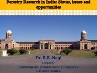 Forestry Research in India: Status, Issues ... - TERI University
