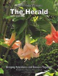 The Herald, Volume 9, Issue 2 - Brugmansia Growers International