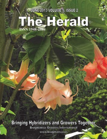 The Herald, Volume 9, Issue 2 - Brugmansia Growers International