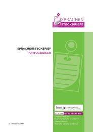 SPRACHENSTECKBRIEF PORTUGIESISCH - Schule mehrsprachig