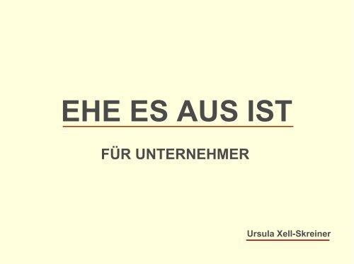 Dr. Ursula XELL-SKREINER - GO-AHEAD