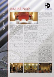 Newsletter January 2009 deutsch.indd - Avantgarde Acoustic