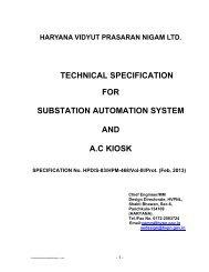 Substation Automation System And A.C. KIOSKS - Hvpn.gov.in