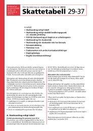 Skattetabeller 29-37 inkomståret 2012 - Skatteverket