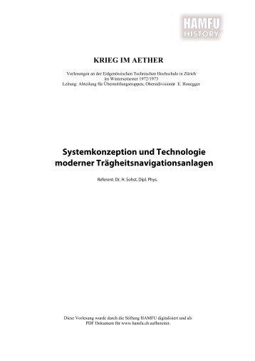 Systemkonzeption und Technologie moderner ... - Stiftung HAMFU