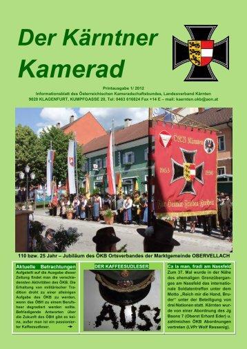 Kärntner Kamerad 2/2012 - Österreichischer Kameradschaftsbund