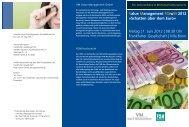 Value Management FOruM 2012 »Schatten über dem Euro« Freitag ...