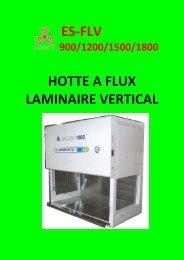 ES-FLV HOTTE A FLUX LAMINAIRE VERTICAL - Esse3-medical.com