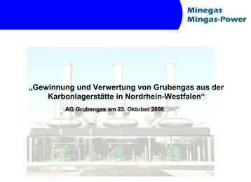 """""""Gewinnung und Verwertung von Grubengas aus der ..."""