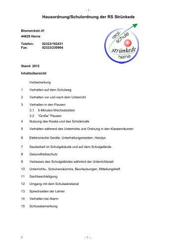 Schulordnung (PDF) - Realschule Strünkede