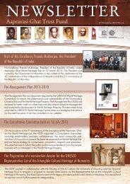 Newsletter 2013 - The Aapravasi Ghat Trust Fund
