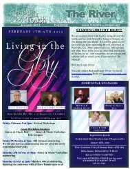 January 2013 newsletter - The River Int'l Revival Network