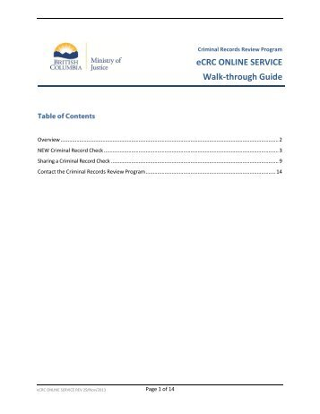 eCRC Online Service Walk-through Guide - Ministry of Justice